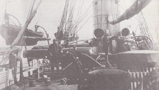 Deck of the USS Kearsarge