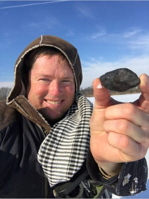 Robert Ward of Prescott is a meteorite hunter and has found chunks of the meteorite that broke up over Michigan on Jan. 16.