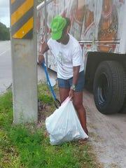 Linda Morgan at the 2017 progressive civic league cleanup