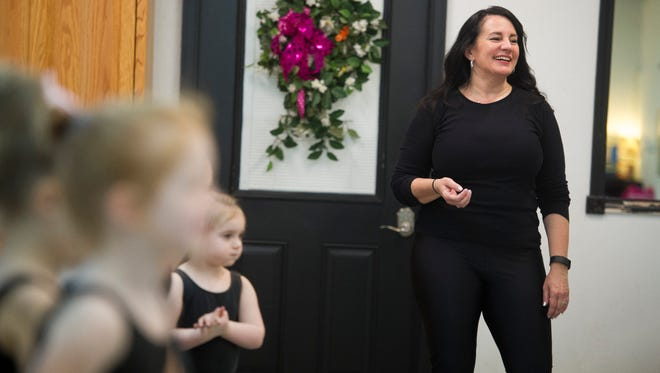 Deanna Meeks instructs students in her Creative Movement dance class at The Dance Factory in Downtown Henderson.  Meeks has been teaching ballet, jazz, tap and hip-hop style dance at The Dance Factory for nearly 25 years.
