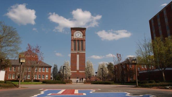 Centennial Plaza on the campus of Louisiana Tech University.