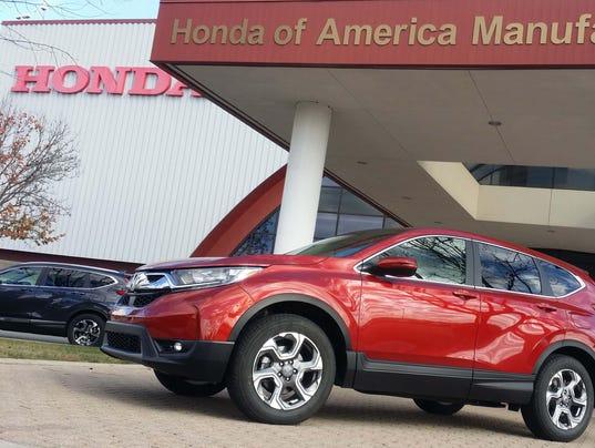 All new honda cr v rolls out at versatile ohio plant for Honda east liberty ohio