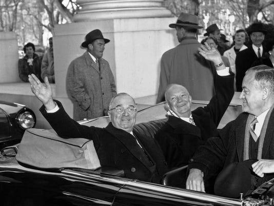 Dwight Eisenhower, harry S Truman, Styles Bridges