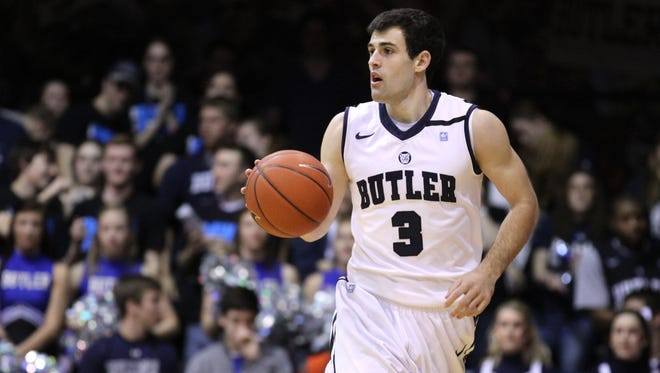 Alex Barlow has reunited with his former coach at Butler, Brad Stevens, as a video assistant with the Celtics.