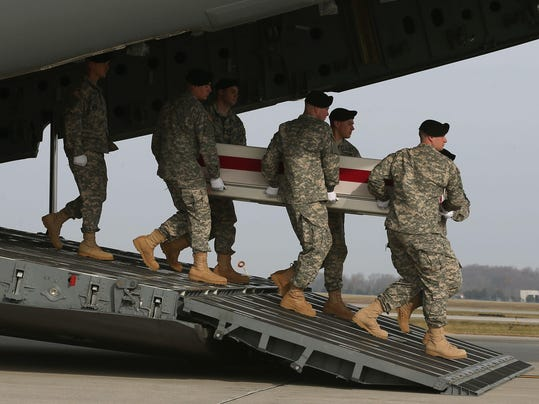 Remains Of Two Soldiers Killed By I.E.D. Attack In Afghanistan Return To U.S. Through Dover AFB