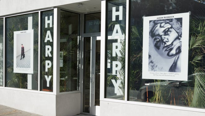 Harpy, a contemporary art gallery, opened on Park Avenue in October in Rutherford. Below: a look inside the gallery.