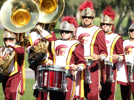 The University of Southern California Trojan Marching Band.