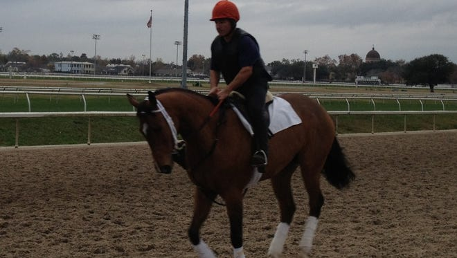Classy Corinthian jogging her usual two miles a morning under Mike Porter.