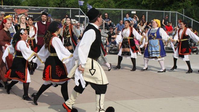 Dancers get in step at Greek Fest.