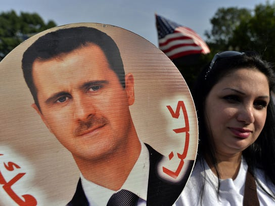 Assad supporters protest at White House
