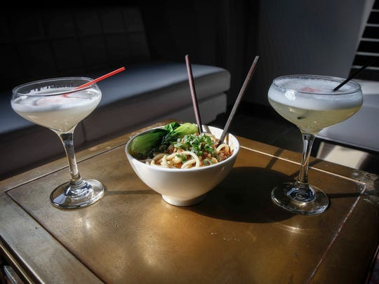 Dan Dan Noodles and New Silk Road cocktails at Heavenly Asian Cuisine in West Des Moines' historic Valley Junction.