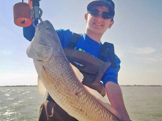 Cameron Pape, 13, caught and released this oversized