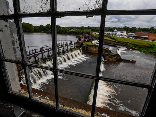 The view of the dam from the old Daniel Pratt Gin Shop in Prattville, Ala., on Thursday August 31, 2017.