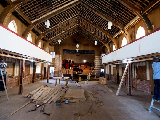 The old Holt Street Baptist Church building in Montgomery, Ala., on Wednesday January 24, 2018. Renovation has begun on the historic building that hosted the first mass meeting of the Montgomery Bus Boycott.
