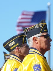 Members of the American Legion Northeast Post 630 stand