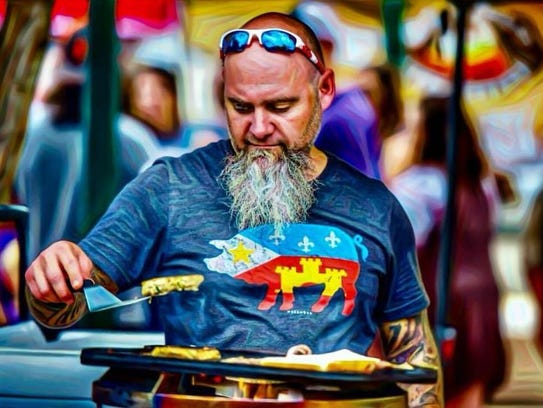Paul Ayo at the recent Boudin Cook-off in Lafayette.