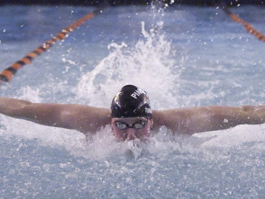 Pinckney's David Turner was ninth in the 200 freestyle