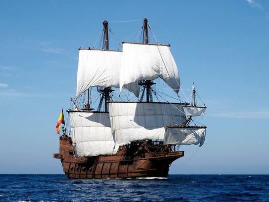 El Galeon tall ship visiting Pensacola Oct. 22.