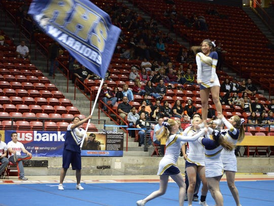 By the state spirit competition, just seven of Ruidoso's cheerleaders were left to compete.