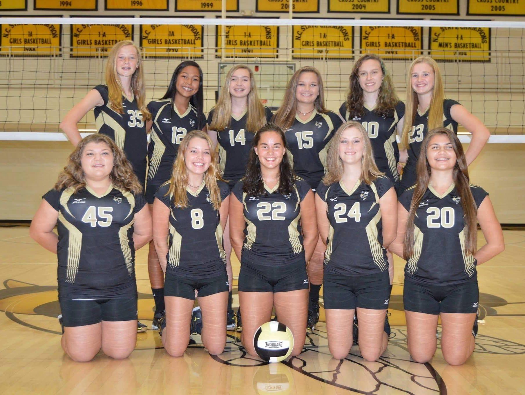 The Hayesville junior-varsity volleyball team.