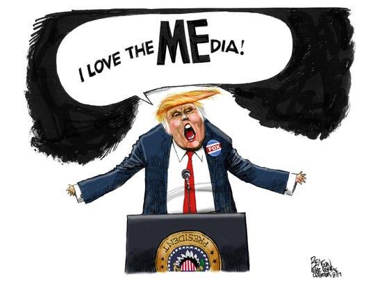 Donald Trump loves the MEdia