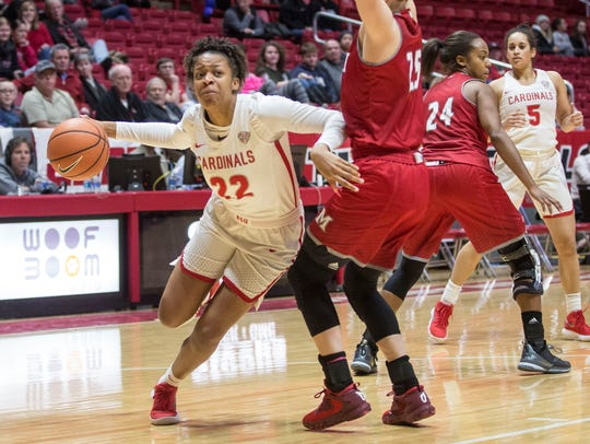 Destiny Washington played two seasons at Ball State in her home state of Indiana before coming to FGCU as a graduate transfer this season.