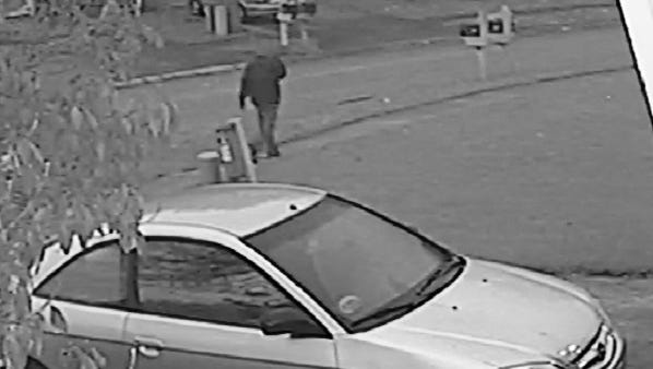 One of two surveillance photos of suspect in Amanda Blackburn killing released by IMPD.