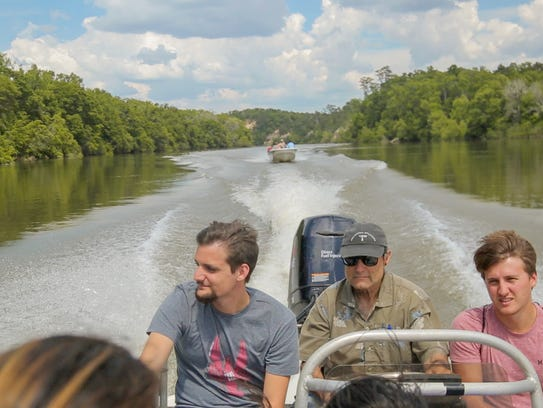 FSU science students on a trip to explore the Apalachicola