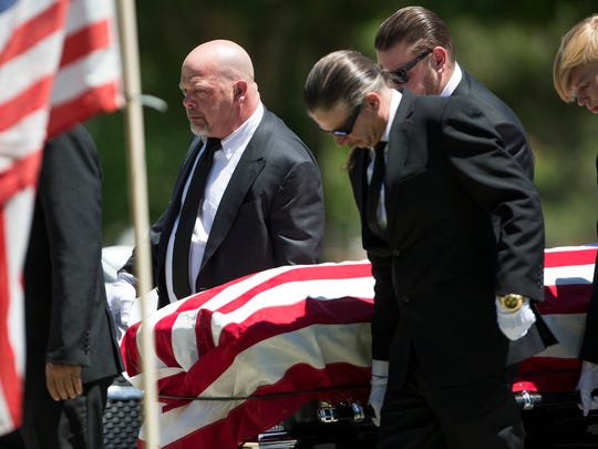 Rick Harrison Left Serves As A Pallbearer During