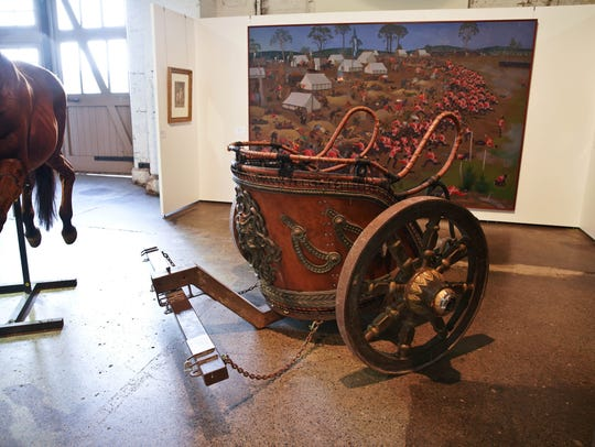 A chariot from the film Gladiator owned by New Zealand