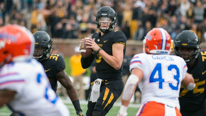 Missouri quarterback Drew Lock leads the SEC in passing yardage and leads the nation in passing touchdowns.