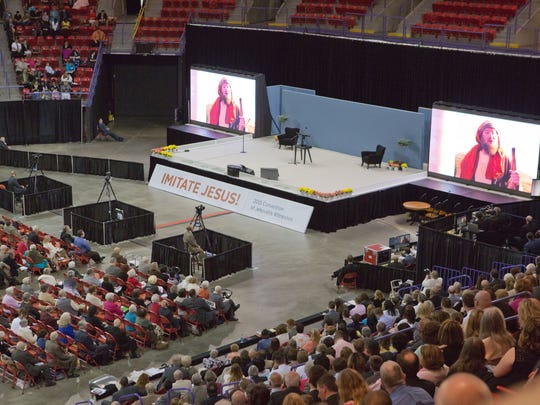 More than 5,000 people packed the Resch Center in Ashwaubenon