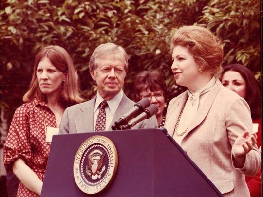 Sarah Weddington with Jimmy Carter