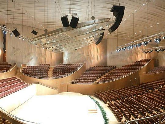 Shanghai Oriental Arts Centre, the interior of the