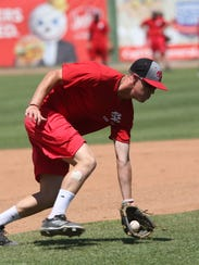 Palm Springs Power Baseball player practice at the