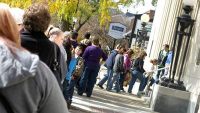 A crowd gathers in 2012 outside the First Capital Music Hall during a stop on that year's History & Mystery Tour, commonly known as the Ghost Walk. This year's tour will be Oct. 24.