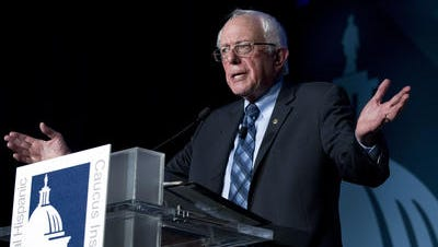 Democratic presidential candidate Sen. Bernie Sanders, I-Vt. speaks during the Congressional Hispanic Caucus Institute Public Policy Conference at Washington Convention Center, Wednesday, Oct. 7, 2015, in Washington.