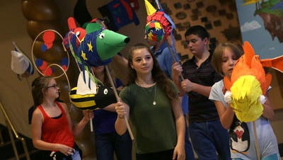 Kids with the Integrated Theatre Company put on their summer 2016 puppetry program recently at the Renaissance Theatre.