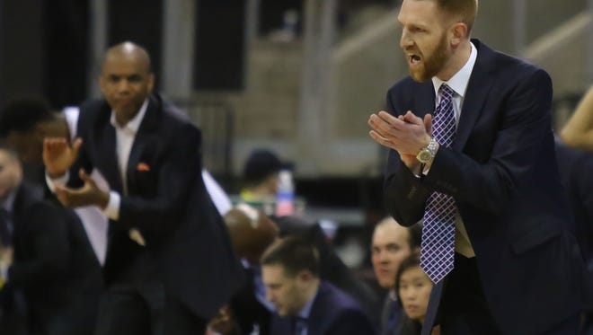 Brett Burchard is seen during a Northern Arizona Suns game on March 29, 2017 in Prescott Valley, Ariz. Burchard was named the NAZ Suns coach Wednesday.