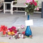 Memorial set up for woman who jumped out of St. Pete apartment. Her body was mistaken for April Fools joke and discarded in a dumpster.