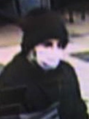 Bank robbery suspect on Jan. 4 at Evolve Federal Credit Union at 6950 Pitt St.