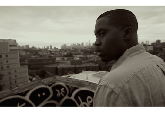 "A scene from ""Nas: Time is Illmatic."""