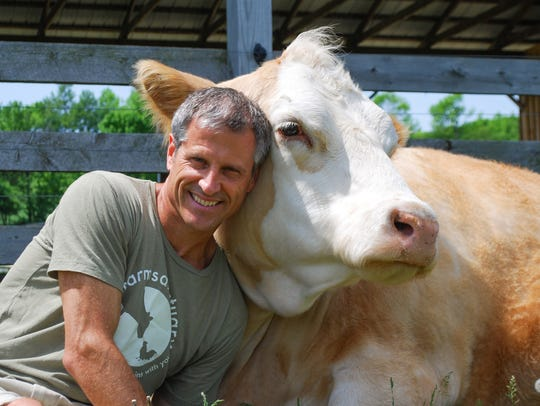 Farm Sanctuary president and co-founder Gene Baur with