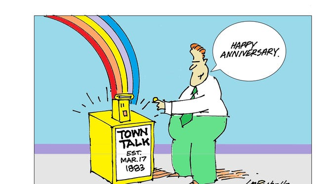 The Town Talk was founded March 17, 1883