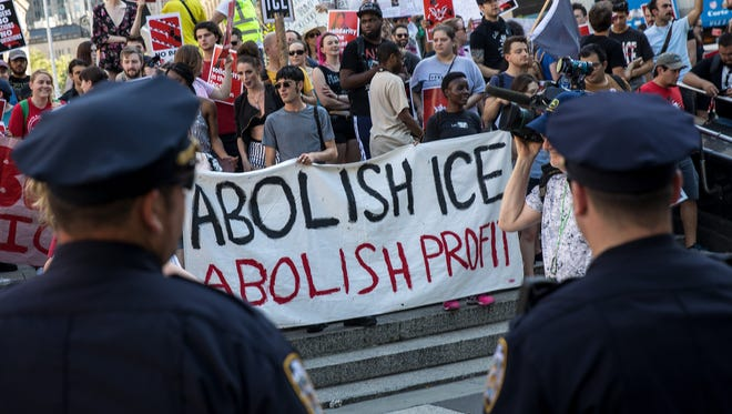 Protest in New York on June 29, 2018.