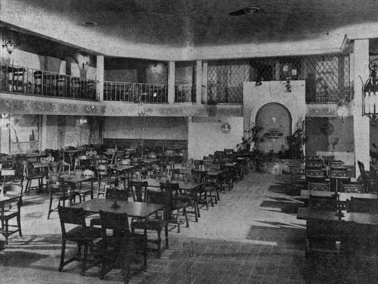 Interior of refurbished Lorenzo's Restaurant, featuring