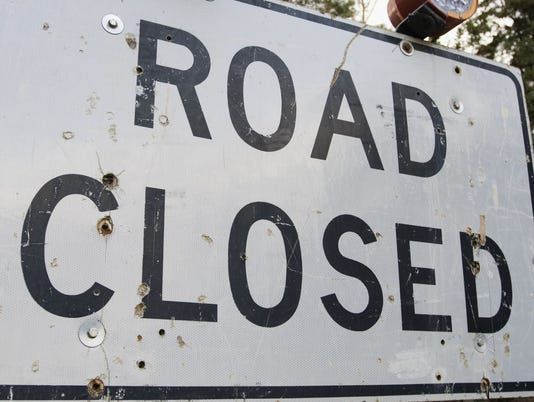 Construction Sign - Road Closed