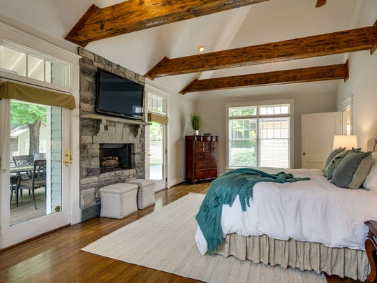 The home has a master suite on the main level that