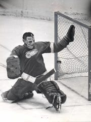 Terry Sawchuk at his best for the Detroit Red Wings.
