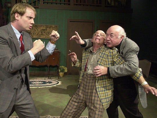 """Bill Helder, far right, plays Jonathan in """"Arsenic"""